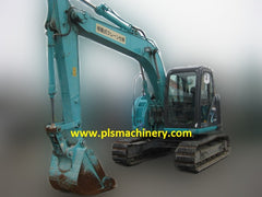 SK135SR-2 kobelco excavator with rubber pads for rental in singapore - www.plsmachinery.com