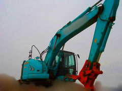 S04.  KOBELCO HYDRAULIC EXCAVATOR FOR SALE SK225SR-2 YB05-03150UP 2008YR WITH GRAPPLE IN SINGAPORE