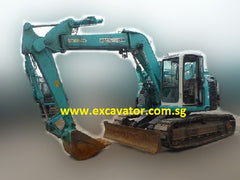 SK130UR with Offset Boom Excavators For Rental Singapore