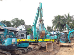 R03.  SK135SR-1ES WITH HYDRAULIC CRUSHER KOBELCO EXCAVATOR FOR RENTAL 2007YR WITH HYDRAULIC PIPING IN SINGAPORE