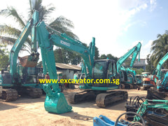 excavator singapore kobelco sk135sr for sale with load indicator and piping www.excavator.com.sg