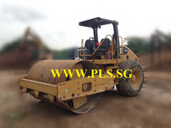 10 TONS CAT CS533E VIBRATORY ROAD ROLLER FOR RENTAL IN SINGAPORE