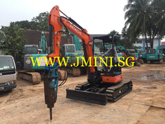 R01.  4 Tons Japan Hitachi ZX38-5A Rent Excavator With Toku Breaker Brand New 2015 in Singapore