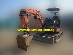 Tunnel Spec Short Arm (1230MM) Mini Excavator For Rent. Ideal For Tunneling And Underground Use In Singapore
