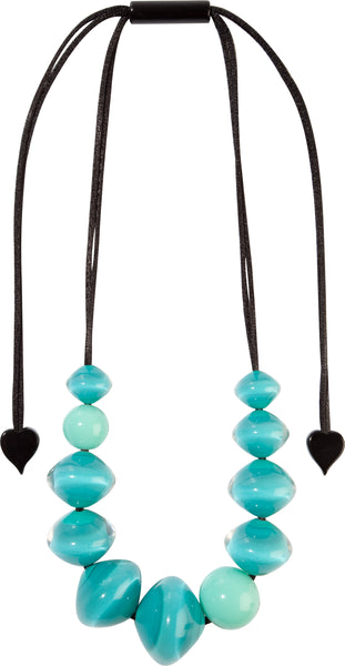 Aqua Mix Beads Malai Necklace - Zsiska 2020