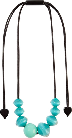 Aqua Mix Small Beads Malai Necklace - Zsiska 2020
