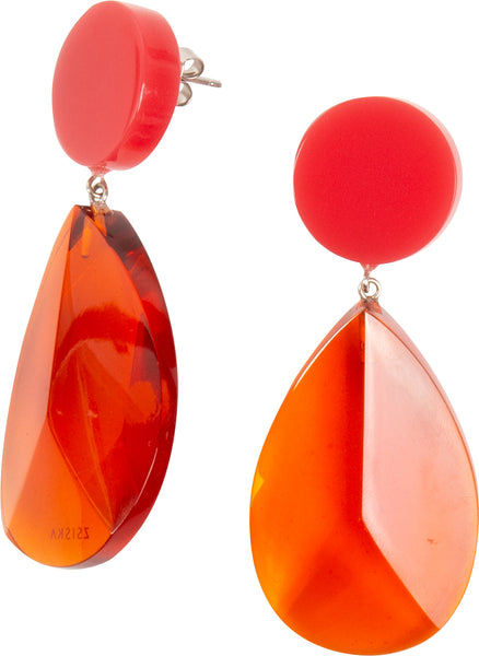 Red Jelly Teardrop Earring - Zsiska 2020