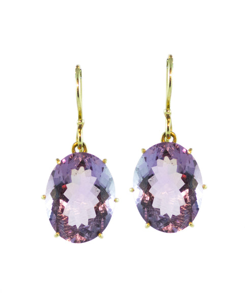 Amethyst Earring in 18ct Gold