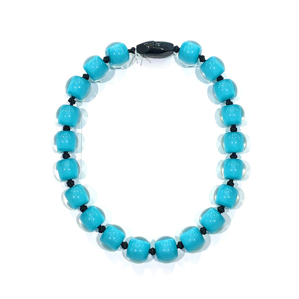 Zsiska Turquoise Resin Necklace