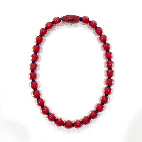 Zsiska Deep Red Resin Necklace