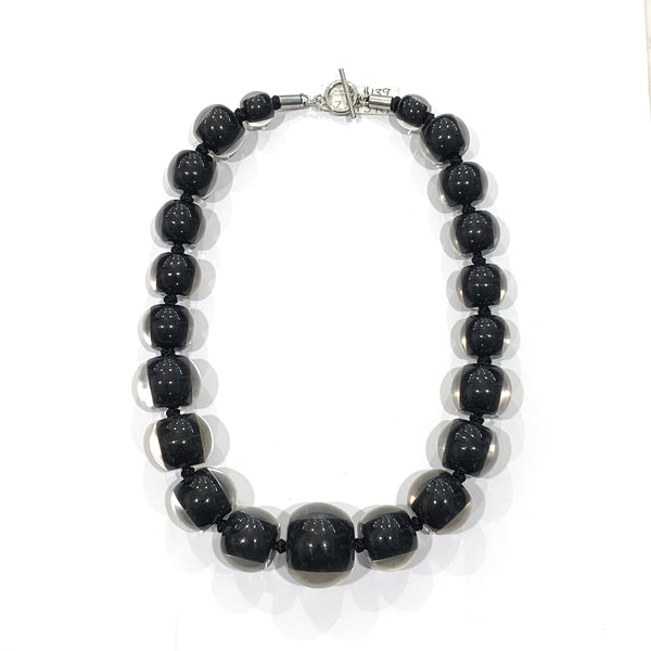 Zsiska Black Resin Necklace