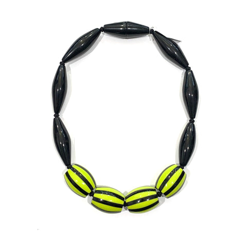 Zsiska Lime Green Resin Necklace