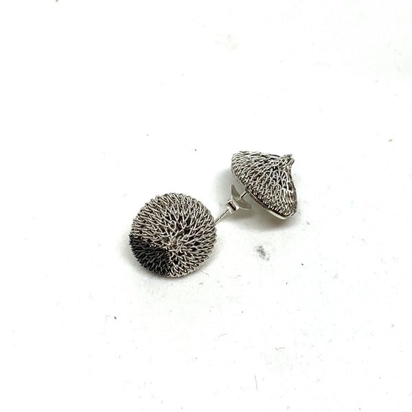Woven Small Stud Earrings - Milena Zu