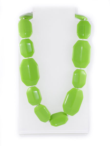 Sirocco Green Resin Tile Necklace