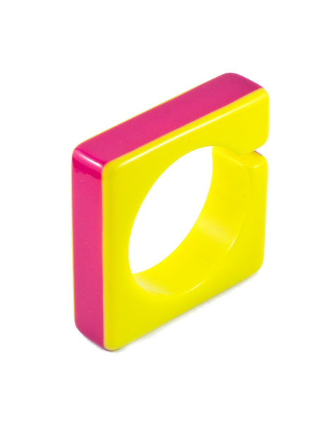 Sirocco Pink and Yellow Square Bangle