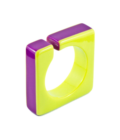 Sirocco Purple and Lime Square Bangle