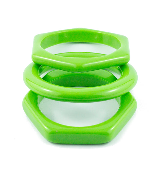 Sirocco Green Resin Bangle Set