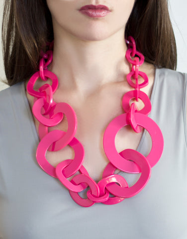 Sirocco Pink Resin Graduated Necklace
