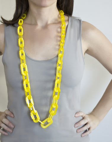 Sirocco Yellow Long Link Necklace