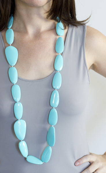 Sirocco Light Blue Long Pod Necklace