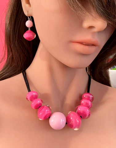 Pink Mix Small Beads Malai Necklace - Zsiska 2020