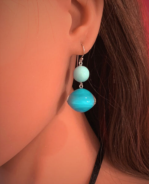 Aqua Mix Beads Drop Earring - Zsiska 2020