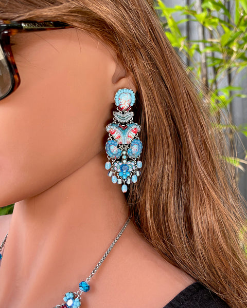 Turquoise Horizon Earrings C1546 - Ayala Bar 2021