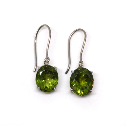 A-Grade Oval Peridot Drop Earrings