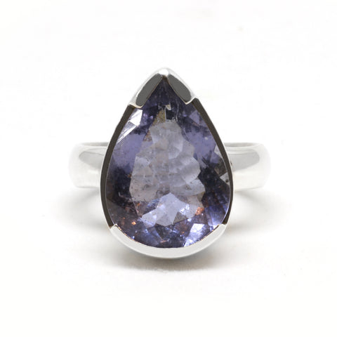 Teardrop Iolite Cocktail Ring
