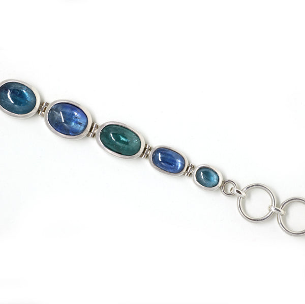 Blue and Green Kyanite Bracelet
