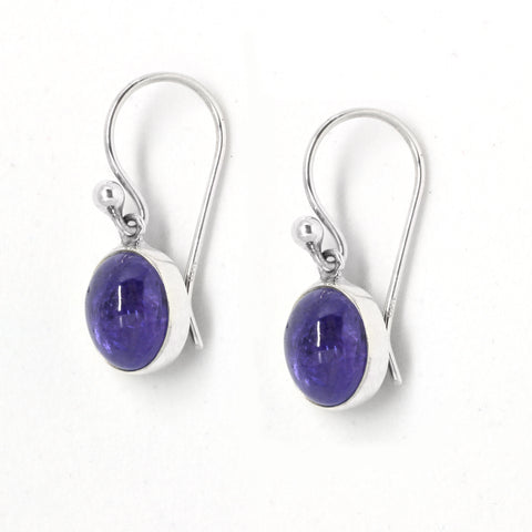 Tanzanite Oval Drop Earrings