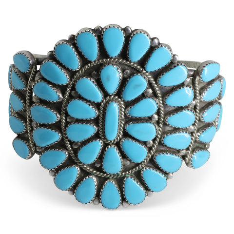 Medium Sized Navajo Squash Blossom Cuff