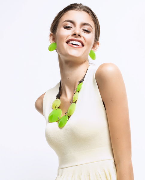 Laguna Green Necklace - Zsiska 2020