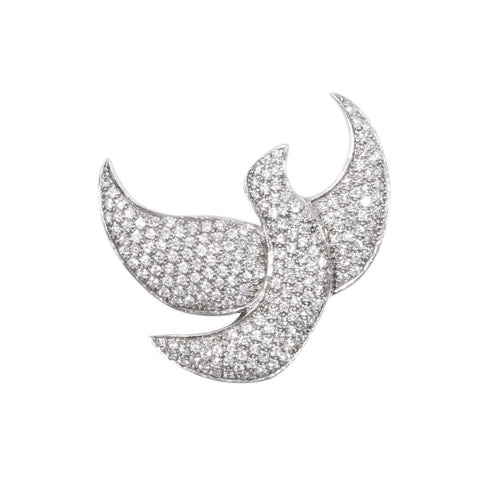 Crystal Dove Brooch