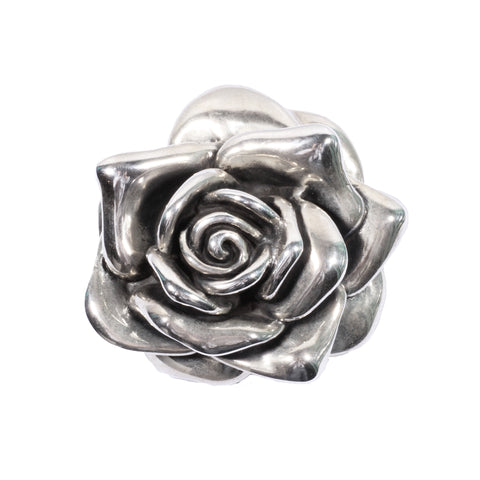 Rose Brooch/Pendant in Sterling Silver