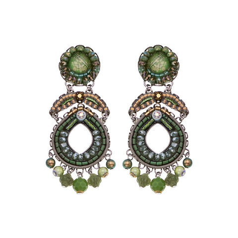 Green Moonlight Earrings C1533 - Ayala Bar 2021