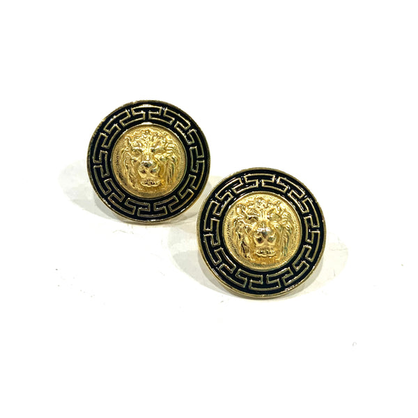 Gold Plated Lion Stud Earrings