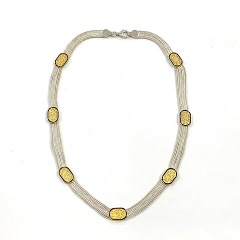Anatolia Gold and Silver Necklace