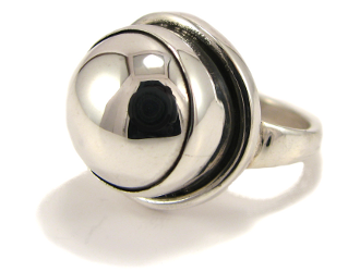 Sterling Silver Round Ring