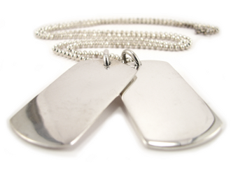 Silver Dog Tags