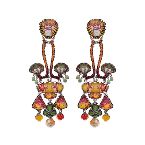 Floral Bucket Earrings R1573 - Ayala Bar 2021