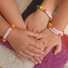 Load image into Gallery viewer, Create at home - Rainbow of Positivity Bracelets