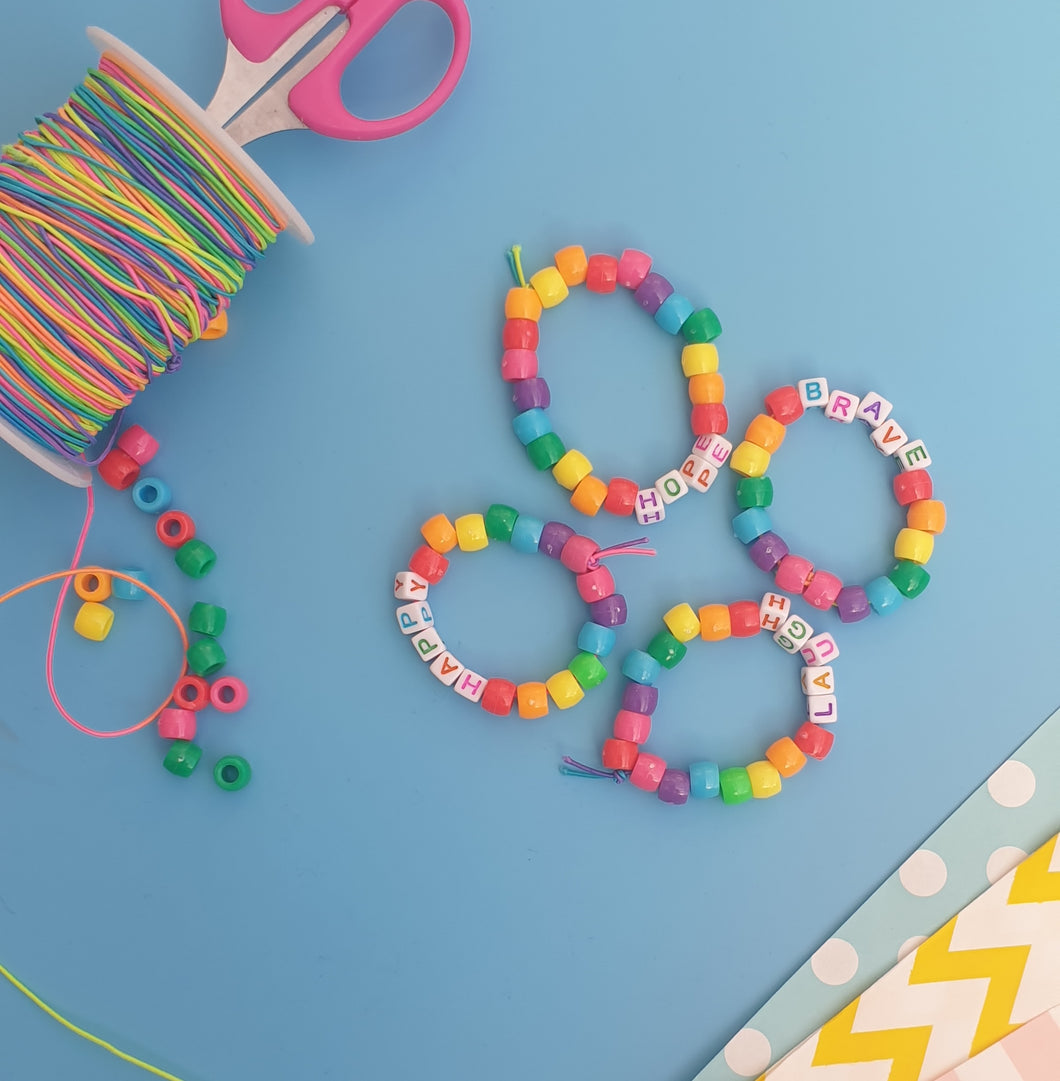 Create at home - Rainbow of Positivity Bracelets