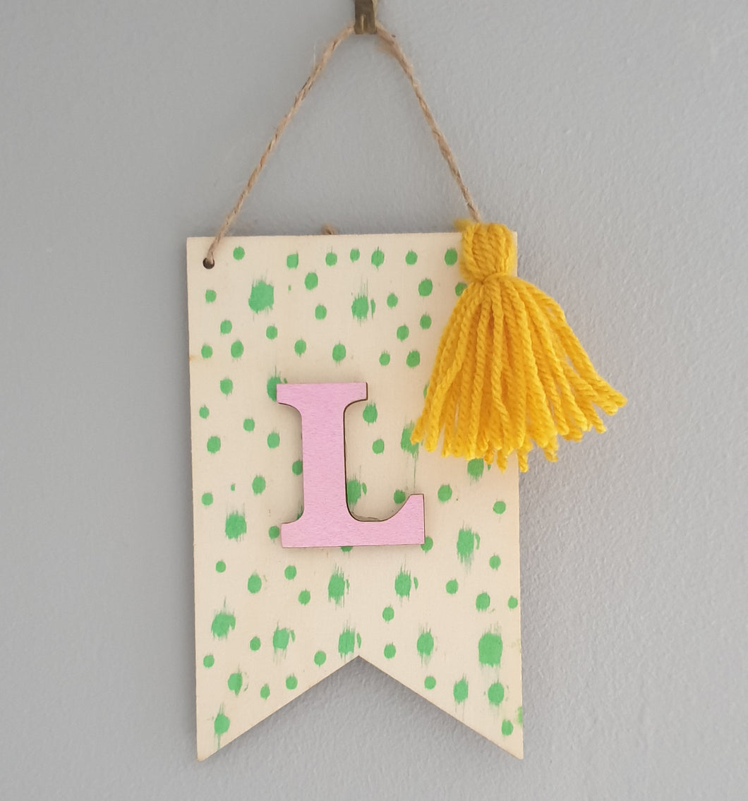 Create at home - Initial Wall Flag