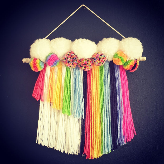 Fringe and Pom Wall Hanging