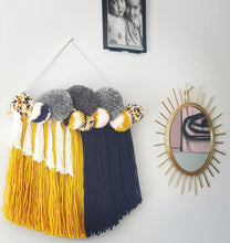 Load image into Gallery viewer, Fringe and Pom Wall Hanging