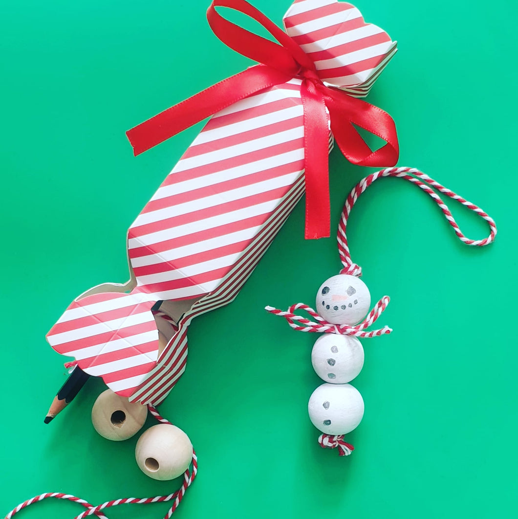 Create at Home - Mr Snowball Christmas Crafty Cracker