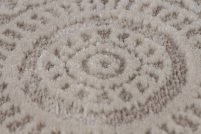 Aleyna 601 Beige Traditional Modern Rug With Centre Medallion - Lalee Designer Rugs