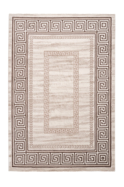Aura 786 Beige Modern Rug with Rectangular Design Border - Lalee Designer Rugs