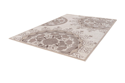 Aura 789 Brown and Beige Floral Rug - Lalee Designer Rugs